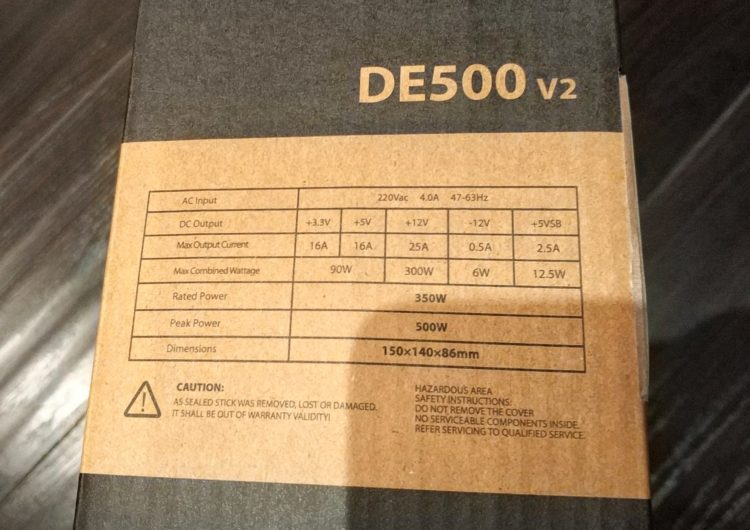 Power Supply Deepcool Explorer DE500 500W, image 2