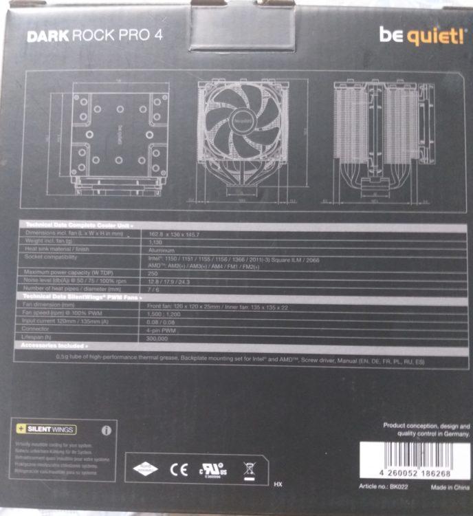 Cooler Be Quiet! Dark Rock Pro 4, image 4