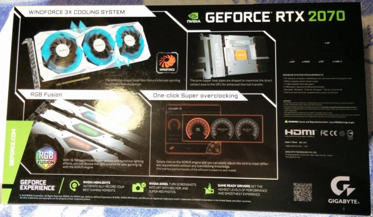 Gigabyte GeForce RTX 2070 8192Mb GAMING OC WHITE, image 10