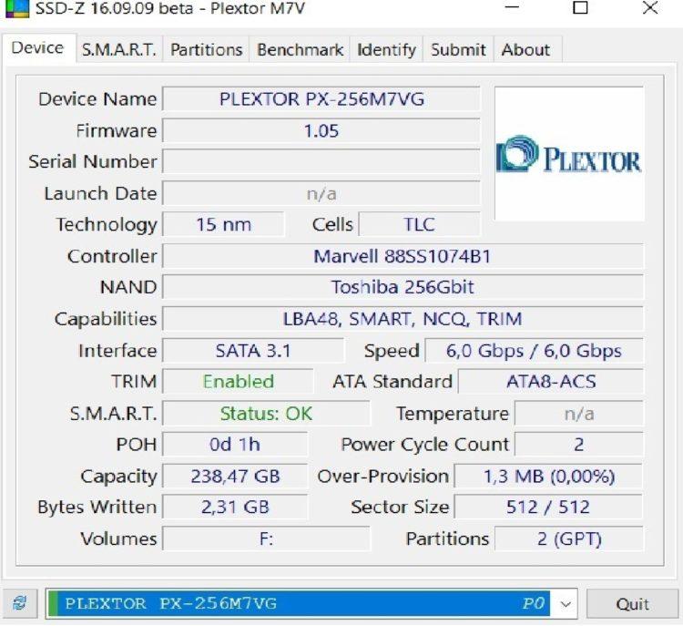 Plextor M.2 M7V 256GB SATA3 TLC PX-256M7VG, image 13
