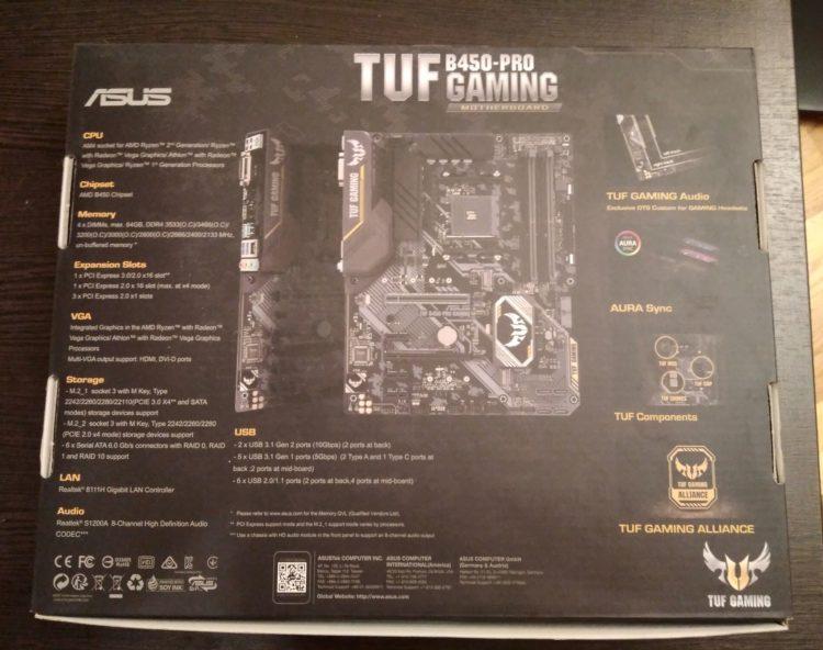 ASUS TUF B450-PRO GAMING, image 5