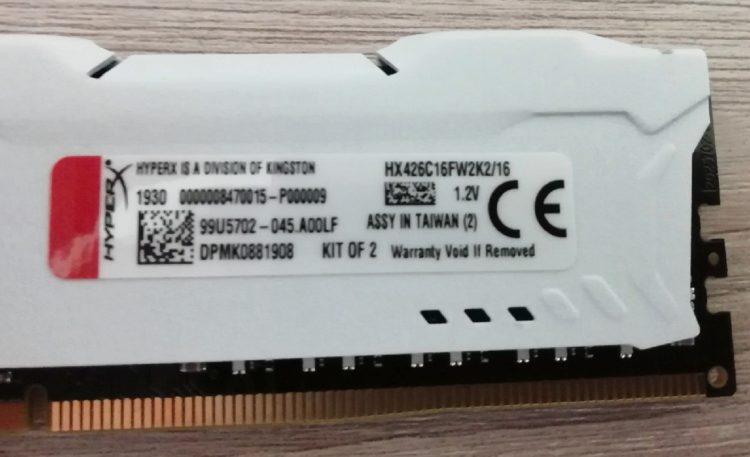 Kingston DDR4 16GB PC-21300 HyperX FURY White HX426C16FW2K2/16 image 6