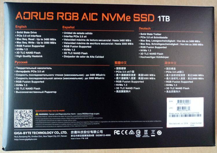 SSD Gigabyte PCI-E 3.0 x4 1000GB NVMe 1.3 3D NAND TLC (GP-ASACNE2100TTTDR), photo 13