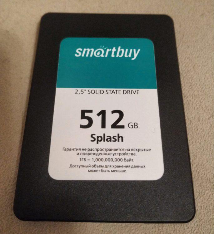 "SSD Smartbuy 2.5"" Splash 512GB SATA3 3D TLC NAND image 1"