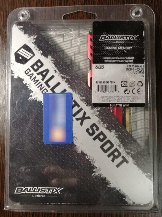 Crucial DDR4 8GB 2400MHz PC-19200 Ballistix Sport Red (BLS8G4D240FSEK) photo 3