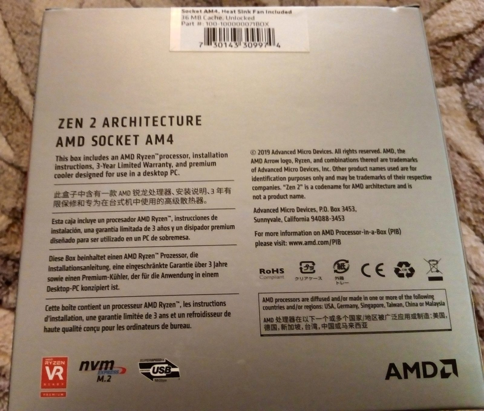 Review on AMD Ryzen 7 3700X AM4 BOX Processor – Tiny Reviews