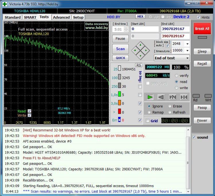 HDD 2.5 Toshiba L200 2TB SATA3 128MB 5400 rpm image 10-3