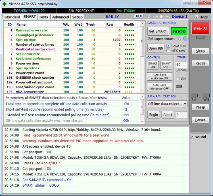 HDD 2.5 Toshiba L200 2TB SATA3 128MB 5400 rpm image 10-1