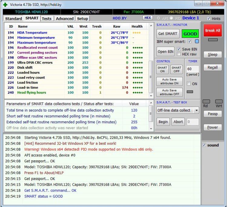 HDD 2.5 Toshiba L200 2TB SATA3 128MB 5400 rpm image 10-2