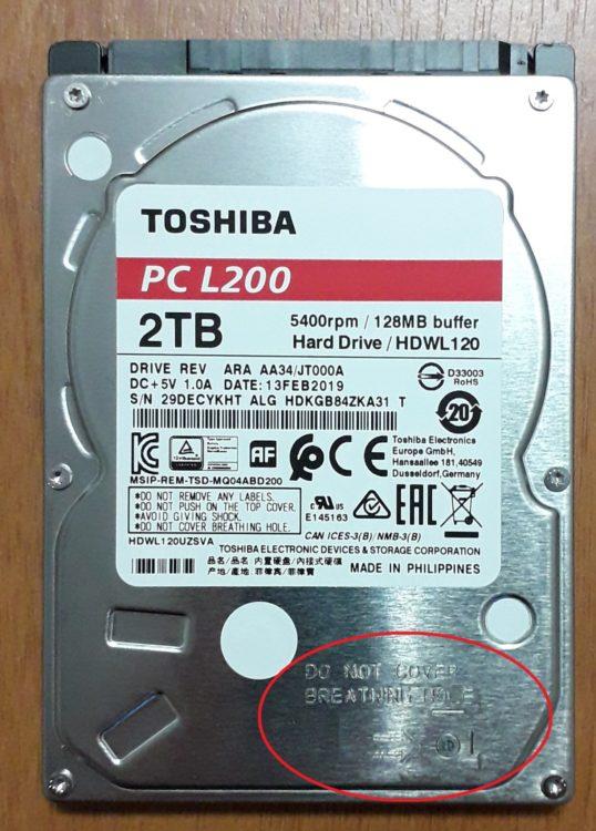 HDD 2.5 Toshiba L200 2TB SATA3 128MB 5400 rpm image 12