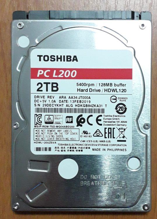 HDD 2.5 Toshiba L200 2TB SATA3 128MB 5400 rpm image 3