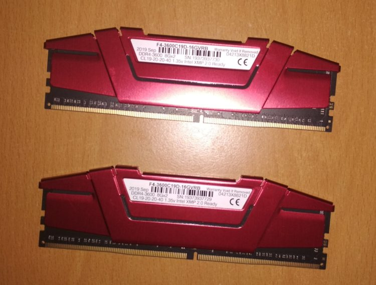 G.SKILL DDR4 16Gb (2x8Gb) 3600MHz PC-28800 RIPJAWS V Red image 4