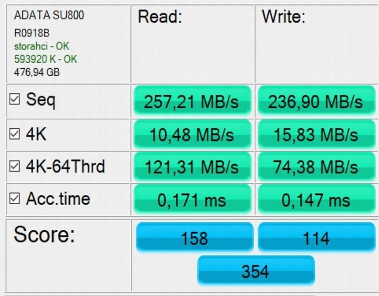 "SSD ADATA 2.5"" Ultimate SU800 512GB SATA3 TLC 3D ASU800SS-512GT-C image 6"