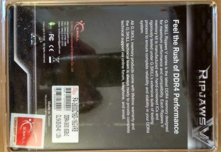 G.SKILL DDR4 16Gb (2x8Gb) 3600MHz PC-28800 RIPJAWS V Red image 9