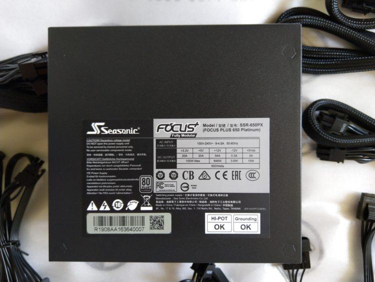 Power Supply SEASONIC Focus Plus SSR-650PX ATX 650W Platinum, image 21