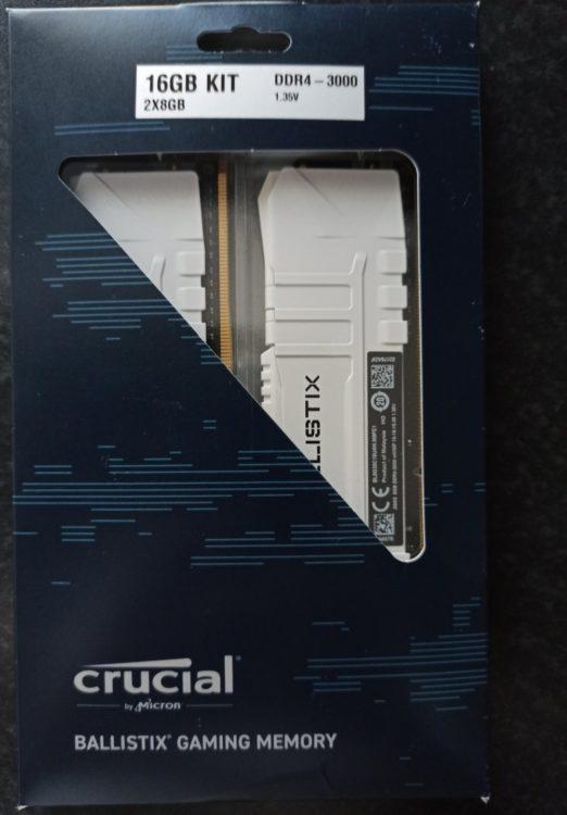 Crucial DDR4 16Gb (2x8Gb) 3000Mhz PC-24000 Ballistix White, image 2
