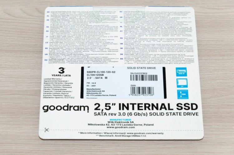 GOODRAM 2.5 SSD СL100 120 GB SATA3 TLC (SSDPR-CL100-120-G2) image 2