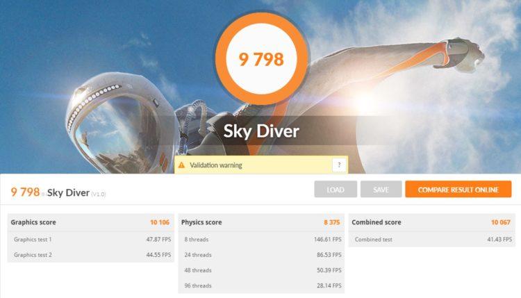 AMD Ryzen 3 3200G 3DMark Sky Diver
