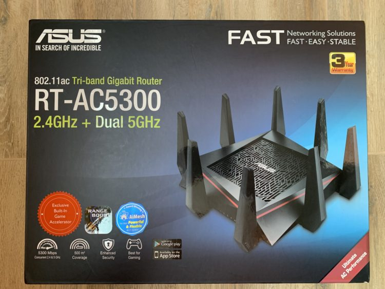 WiFi router ASUS RT-AC5300, image 4