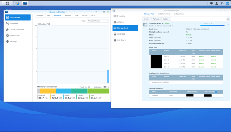 Synology DS420j NAS Storage Manager image 4