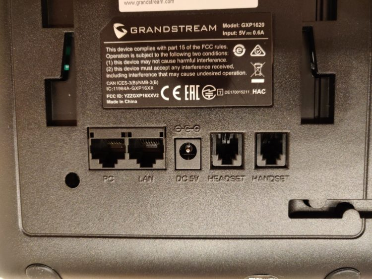 IP Phone Grandstream GXP1620, image 6