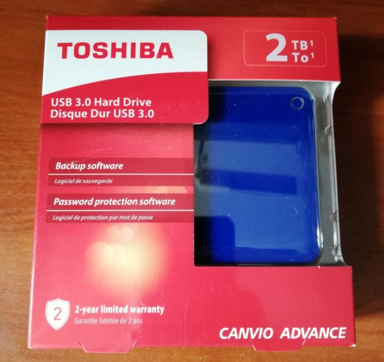 External HDD Toshiba Canvio Advance 2.0TB USB 3.0 BLUE image 8