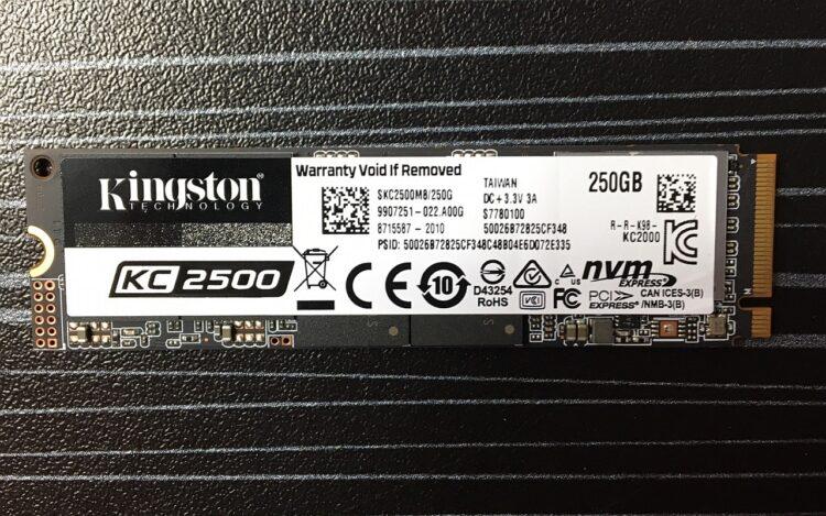 SSD Kingston M.2 2280 KC2500 250GB PCI-E x4 NVMe SKC2500M8/250G image 7