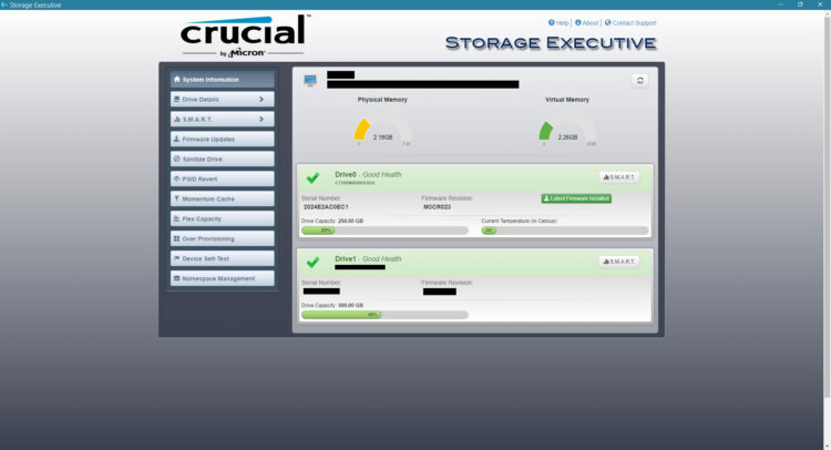 Crucial M.2 MX500 SSD 250GB 2280 SATA3 CT250MX500SSD4, Storage Executive